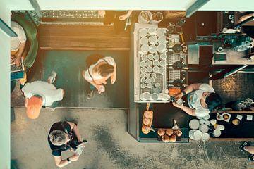 Flexworker dans un café sur Studio Reyneveld
