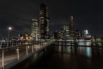 Rotterdam en couleur le soir sur Albert Mendelewski