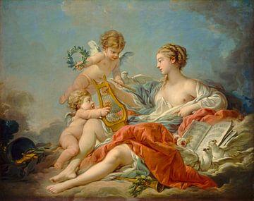 François Boucher. Allegorie van de muziek van