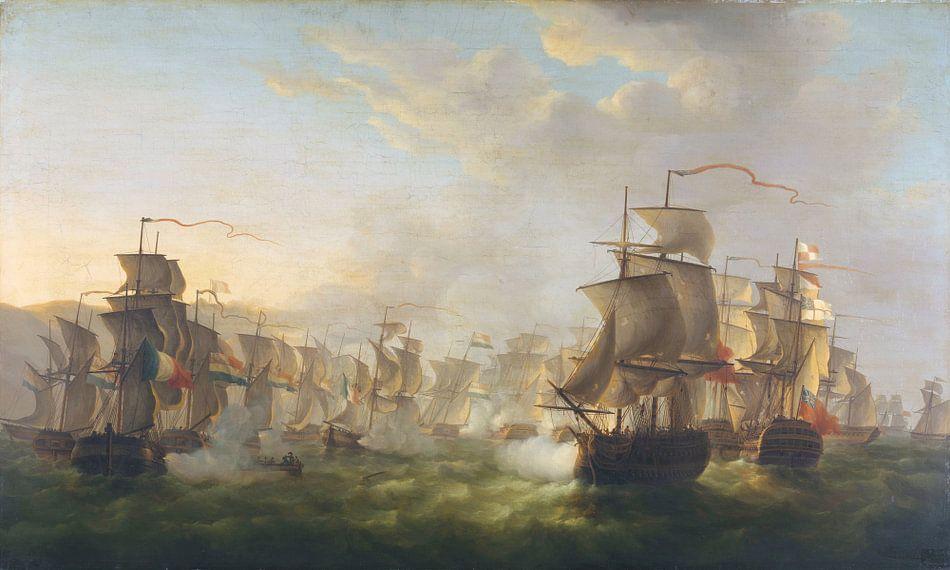 Het treffen tussen de Hollandse en de Britse vloot, Martinus Schouman van Meesterlijcke Meesters