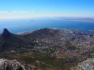 Blick auf den Tafelberg über Kapstadt von Sanne Bakker