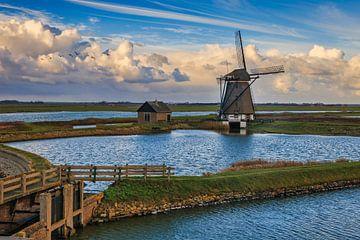 Poldermühle Der Norden von Texel von Dokra Fotografie