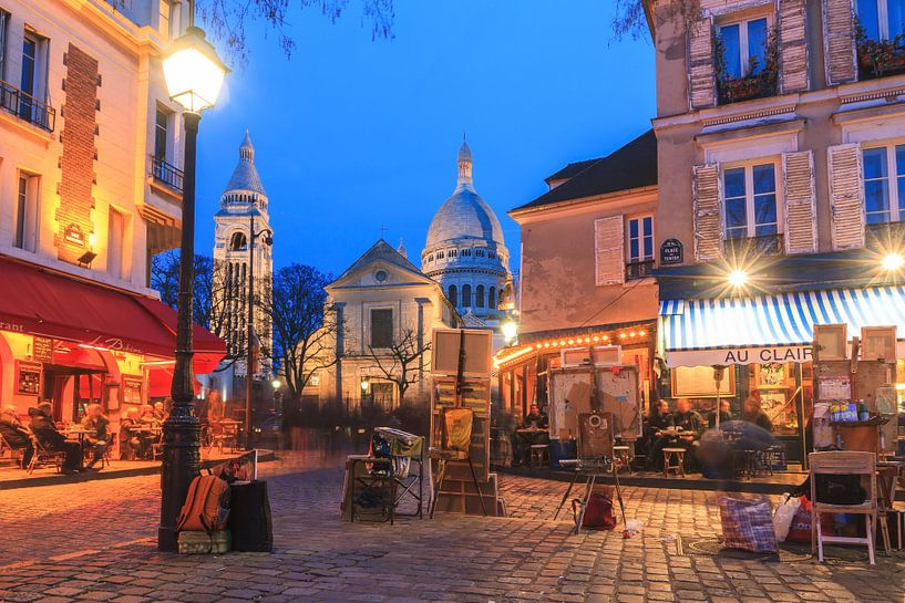 Place du Tertre Parijs van Dennis van de Water