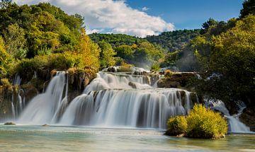 Krka Waterval, Kroatië van Adelheid Smitt