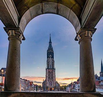 Delft - Nieuwe Kerk vom Rathaus aus gesehen von Rene Siebring