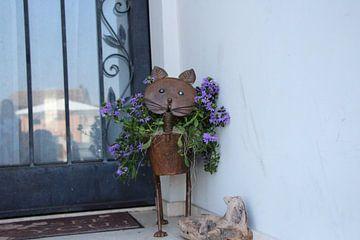 Bloempot in kattenvorm von Charissa Oudejans