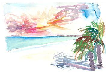 Weiße Sandstrände in Martinique Westindien von Markus Bleichner
