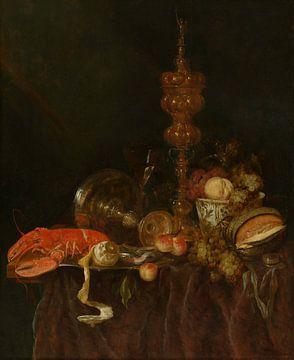 Nature morte au homard et aux fruits, Abraham van Beijeren