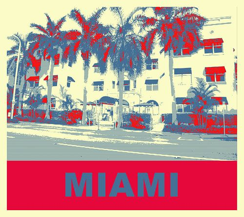 Miami Beach von Adriaan Hennie van Ravesteijn