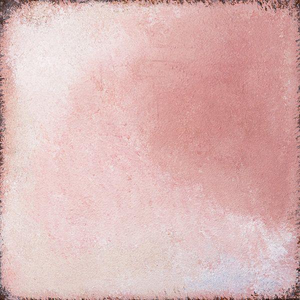 Abstract, verweerde textuur, oudroze van Joske Kempink