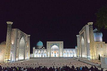 Zijderoute: Registan plein in Samarkand, Oezbekistan van Koolspix