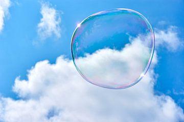 Zwevende zeepbel van Harry Wedzinga