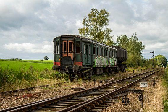Afgedankt Treinstel bij Station Simpelveld