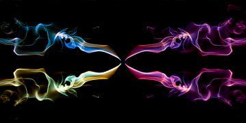 Fantasie in rook, kleurrijke rook. #1 van Gert Hilbink