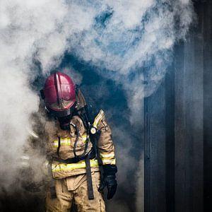 Brandweerman, firefighter, kleur