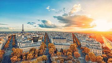 Panorama van Parijs van Manjik Pictures