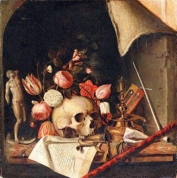 Nature morte en trompe-l'œil vanitas, Cornelis Norbertus Gysbrechts sur