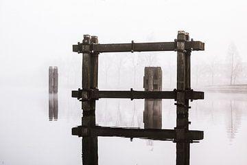 Meerpalen in het Noordhollands kanaal van Els Broers