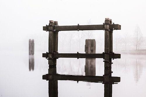 Meerpalen in het Noordhollands kanaal