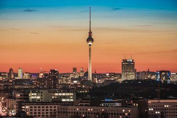 Berlin avec tour de télévision le soir sur Jean Claude Castor