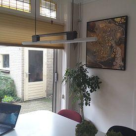 Kundenfoto: Der Doppelfrosch. von Ilse Smit, auf leinwand
