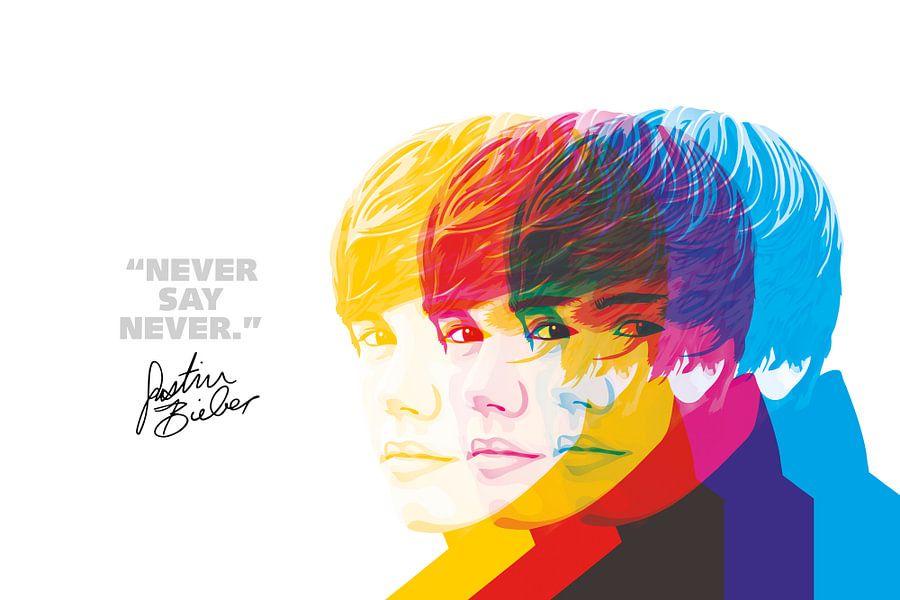 Justin Bieber Quote van Harry Hadders