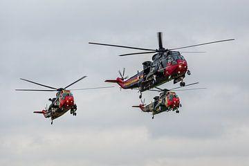 Goodbye Seaking, last formation flight. van Patrick Vercauteren