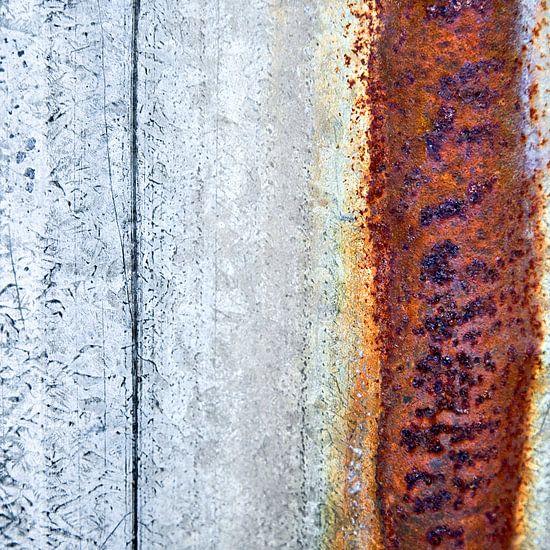 Oergrond - Studie grijs en bruin van Hans Kwaspen