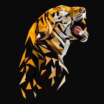 Cooles Tiger Poster van Felix Brönnimann