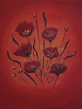 Mohnblumen I van Babetts Bildergalerie