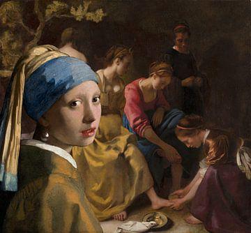 het meisje met de Parel bezoekt Diana en haar nimfen van Eigenwijze Fotografie