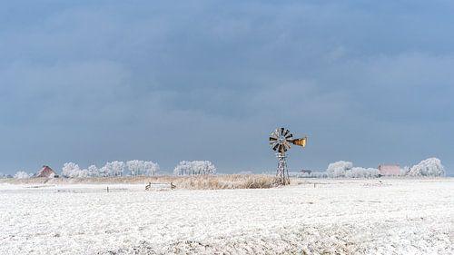 Oude windmolen van