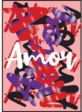 abstracte amor kunstwerk rose van Gerrit Neuteboom