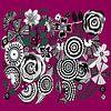 Blumen Muster in schwarz weiß von Patricia Piotrak Miniaturansicht