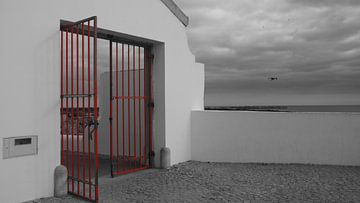 Red Fence van Winfried Weel