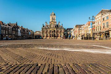 Delft marktplein. van Brian Morgan