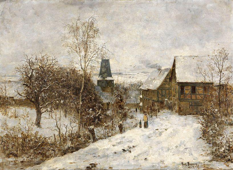 Paul Baum.Winter in Overweimar von 1000 Schilderijen
