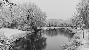 Bollwerk Middelburg unter Neuschnee von Percy's fotografie