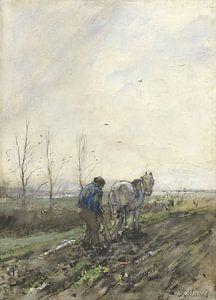 Pflügender Landwirt, Jacob Maris