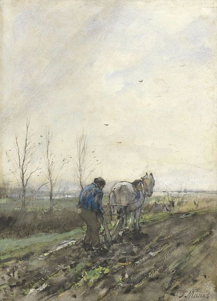 Pflügender Landwirt, Jacob Maris von Meesterlijcke Meesters