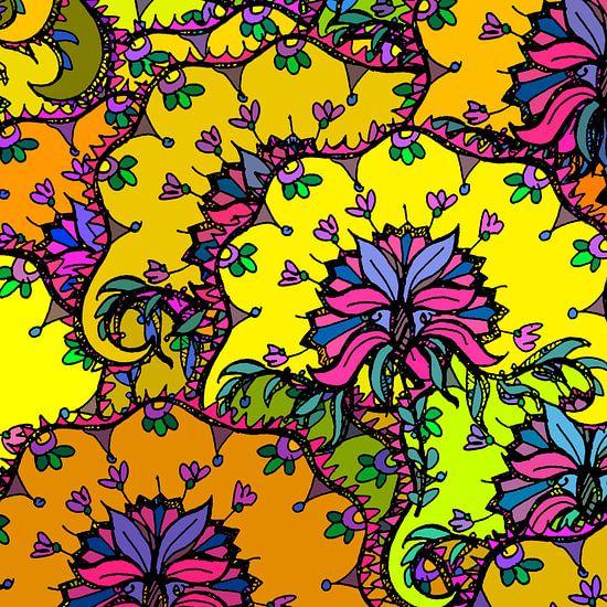 GRAFISCHE PRINT FLORA 1 van MY ARTIE WALL