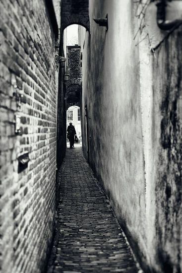 Straatfotografie in Utrecht. De Zwaansteeg in Utrecht. (Utrecht2019@40mm nr 42)