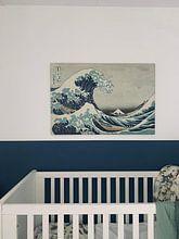 Klantfoto: De grote golf van Kanagawa, Hokusai, op canvas