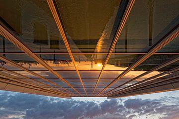 Sonnenuntergang am Dockland von Borg Enders