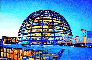 Glazen koepel boven de Rijksdag van Saskia Ben Jemaa