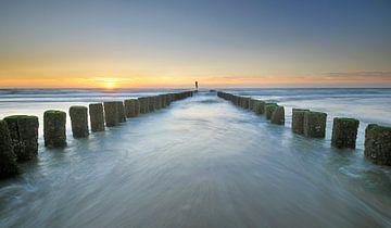 Paalhoofden Zeeuwse kust von John Leeninga