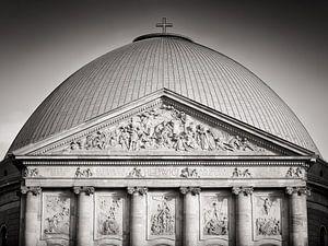Photographie en noir et blanc : Berlin - Cathédrale St.-Hedwige
