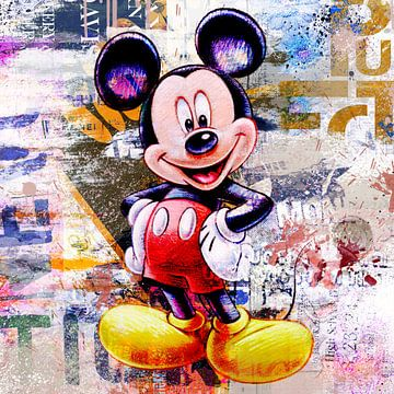 Mickey Street Art von Rene Ladenius Digital Art