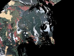 Kattenkunst: Camouflage Cats 3A van MoArt (Maurice Heuts)