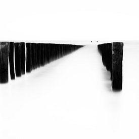 Golfbreker zwart wit van Vandain Fotografie